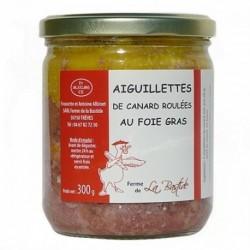 Aiguillettes roulées au foie gras