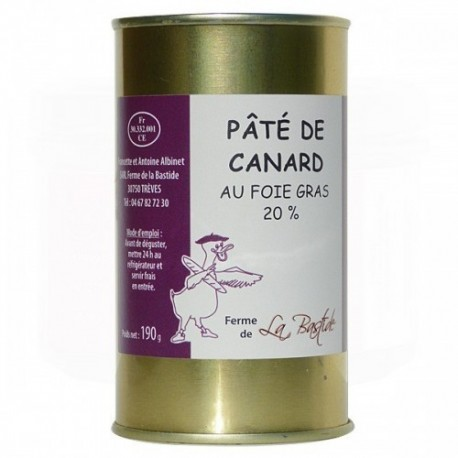 Pâté de canard au foie gras 20%