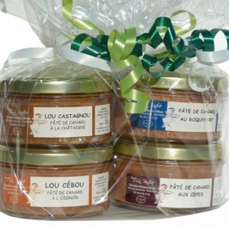 Lot dégustation - 4 verrines de 125gr (Genièvre, Cébou, Cèpes, Castagnou)